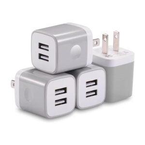 最佳USB墙插座选择:x版USB墙充电器4包