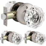 The Best Door Handles Option: Knobonly 3-Pack Genuine Crystal Privacy Doorknobs