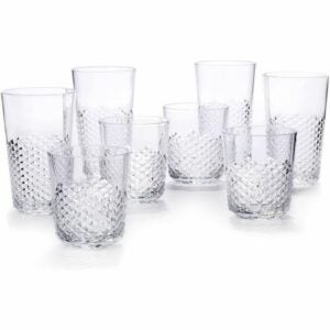 The Best Drinking Glasses Option: Cupture Diamond Plastic Tumblers BPA Free