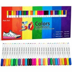 最好的面料标记选项:艾森艺术织物标记笔30颜色永久性油漆