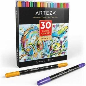 最好的面料标记选项:Arteza Fabric标记,套30种什锦颜色