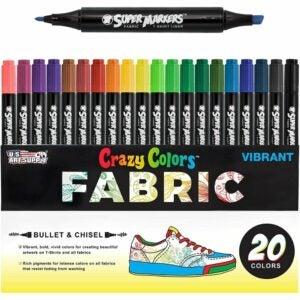 最好的面料标记选项:美国艺术供应超级标记20独特的颜色双尖