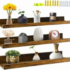 The Best Floating Shelves Option: Giftgarden Rustic Large Wall Shelf with Picture Ledge