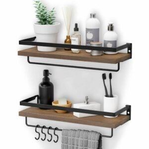 The Best Floating Shelves Option: Homemaxs Floating Shelves with Towel Holders