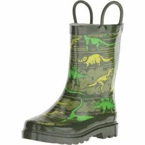 最好的园艺鞋选择:西部首席小孩的防水印花雨靴