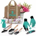 The Best Gardening Tools Option: Abco Tech Garden Tools Set - 9 Piece Gardening Kit