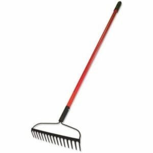 The Best Gardening Tools Option: Bully Tools 92309 12-Gauge 16-Inch Bow Rake
