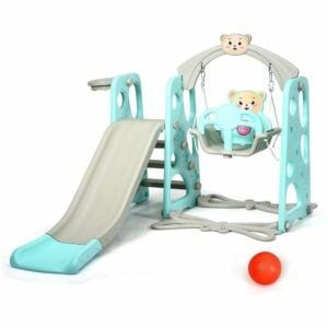 The Best Indoor Playground for Kids Option: Costzon 4 in 1 Toddler Climber and Swing Set