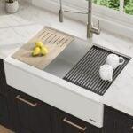 The Best Kitchen Sinks Option: Kraus KGF1-33 White Bellucci Granite Quartz Composite