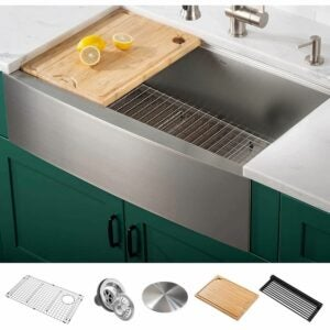 The Best Kitchen Sinks Option: Kraus KWF210-33 Kore Workstation Farmhouse Single