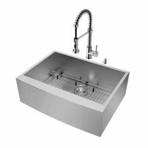 The Best Kitchen Sinks Option: VIGO Camden Stainless Steel Undermount Apron Front