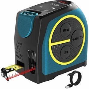 The Best Laser Measure Option: DTAPE Laser Tape Measure 2-in-1 measurement