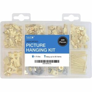The Best Nails for Hanging Pictures Option: hecho Assorted Picture Hanging Kit