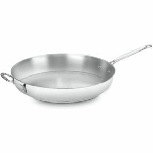 The Best Skillet Option: Cuisinart 722-36H Chef's Classic Stainless 14-Inch