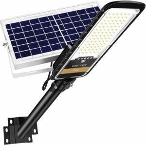 最好的太阳能泛光灯选项:Ruokid 80W太阳能路灯户外灯