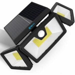 最好的太阳能泛光灯选项:TBI安全太阳能灯户外216 LED
