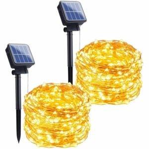 The Best Solar String Lights Option: Brightown Outdoor Solar String Lights