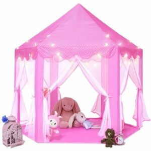 The Best Tents for Kids Option: Monobeach Princess Tent Playhouse with Star Lights