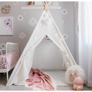 The Best Tents for Kids Option: Tiny Land Kids Teepee Tent with Mat & Light String