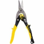 The Best Tin Snips Option: STANLEY FATMAX Tin Snips Straight Cut, 9-7/8-Inch