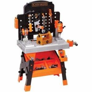 儿童最佳工具选择:黑色+DECKER电动工具车间-玩具工作台