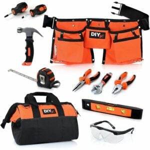 最好的工具为孩子选择:DIY jr我的第一个工具集-真正的工具为孩子