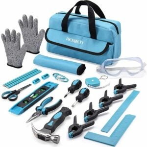 The Best Tools for Kids Option: REXBETI 25-Piece Kids Tool Set with Real Hand Tools