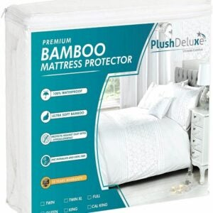 The Best Waterproof Mattress Protector Option: PlushDeluxe Premium Bamboo Mattress Protector