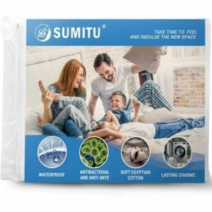 The Best Waterproof Mattress Protector Option: Sumitu 100% Egyptian Cotton Waterproof Protector