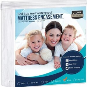 The Best Waterproof Mattress Protector Option: Utopia Bedding Zippered Mattress Encasement