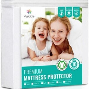 The Best Waterproof Mattress Protector Option: Vekkia Organic Mattress Protector