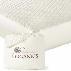 The Best Waterproof Mattress Protector Option: Whisper Organics, 100% Organic Mattress Protector