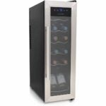 The Best Wine Coolers Option: NutriChef 12 Bottle Wine Cooler Refrigerator PKCWC12