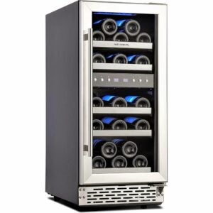 The Best Wine Coolers Option: Phiestina 15 Inch Dual Zone Wine Cooler