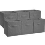 Best Storage Bins Options: AmazonBasics Collapsible Fabric Storage Cubes Organizer