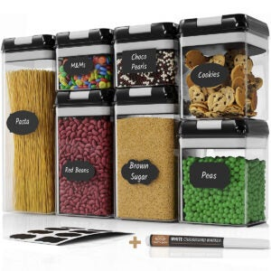 Best Storage Bins Options: Chef's Path Airtight Food Storage Container Set