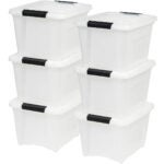 Best Storage Bins Options: IRIS USA TB-17 19 Quart Stack & Pull Box