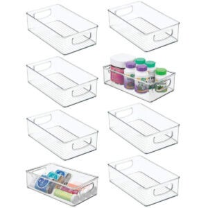 Best Storage Bins Options: mDesign Stackable Plastic Storage Organizer Container Bin