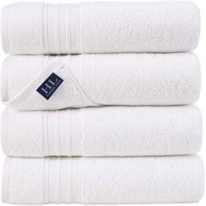 最佳浴巾选择:Hammam亚麻100%纯棉27x54 4件套浴巾