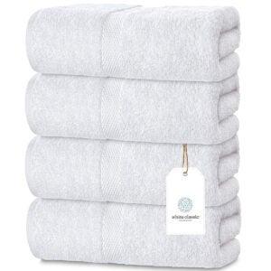 最佳浴巾选择:豪华白色浴巾大