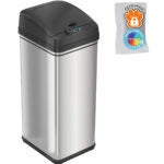 Best Bathroom Trash Can Options: iTouchless 13 Gallon Pet-Proof Sensor Trash Can