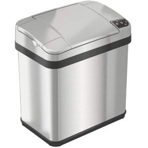 Best Bathroom Trash Can Options: iTouchless 2.5 Gallon Bathroom Touchless Trash Can