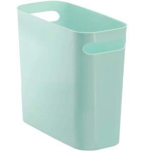 Best Bathroom Trash Can Options: mDesign Slim Plastic Rectangular Small Trash Can