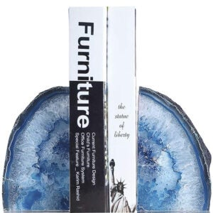 Best Bookends Options: JIC Gem Home Decorative 2 to 3 Lbs Polished Geode Agate Bookends