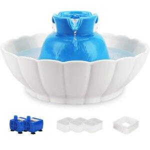Best Cat Water Fountain Options: iPettie Tritone Ceramic Pet Drinking Fountain