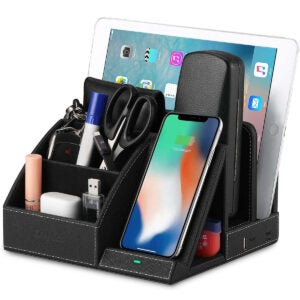 Best Charging Station Options: EasyAcc Wireless Charger Desk Organizer