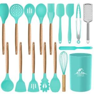 Meilleures options d'ensemble d'ustensiles de cuisine: Ensemble d'ustensiles de cuisine en silicone Mibote, 17 pièces
