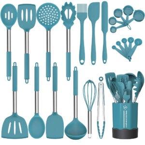 Meilleures options d'ensemble d'ustensiles de cuisine: Ensemble d'ustensiles de cuisine en silicone