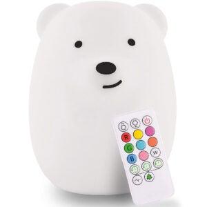 Best Night Light for Kids Options: LED Nursery Bear Night Light for Kids