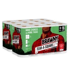 Best Paper Towels Options: Brawny Paper Towels, Tear-A-Square